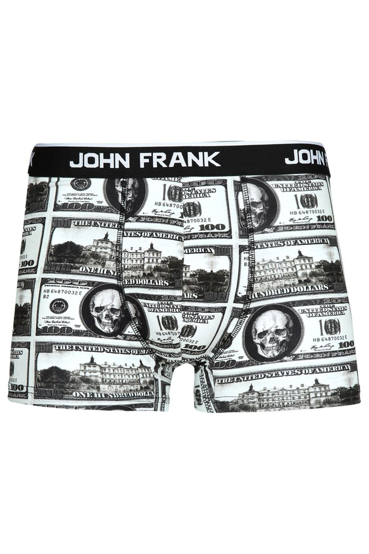 JOHN FRANK JFB72 DOLAR DİJİTAL BASKILI ERKEK BOXER KARMA DESENLİ