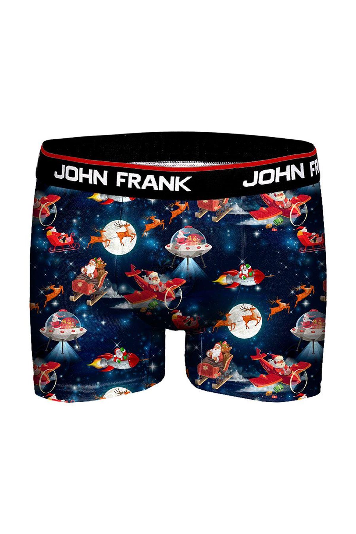 JOHN FRANK JFBD10-CH SANTA SPADE ERKEK BOXER DESENLİ
